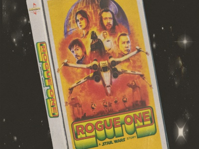 RogueOne VHS STORY rogue one star wars analog design retro graphic design