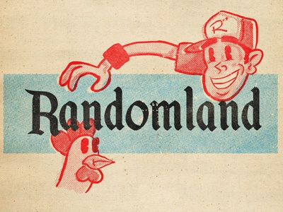 "Randomland ""Disney Variant"" randomland mid-century illustration analog 1950s retro graphic design"