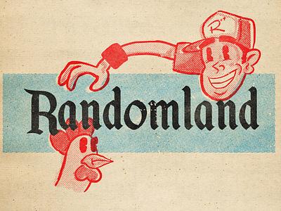 "Randomland ""Disney Variant"" randomland mid-century illustration analog 1950s retro graphic design"