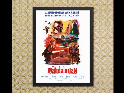 """The Mandalorian"" Season Two poster the mandalorian starwars 1960s poster design movie cinemarama poster illustration analog design retro graphic design"