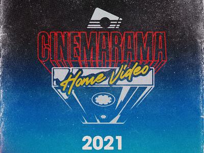 Cinemarama Home Video catalog cover analog branding 1980s print cinemarama vhs design retro graphic design