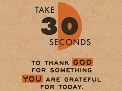Take 30 Seconds