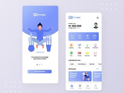 Wanqu Financial App figma financial ui minimalism minimal icon design illustration financial app ui design ui  ux interface creative clean