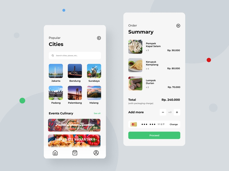Oleholeh - Culinary App app design app icon creative clean ui design photography cities city ui ux culinary app culinary
