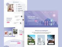 StateHaus - Property App clean vector landing page design icon illustration minimalism ui ux interface landing page ui design