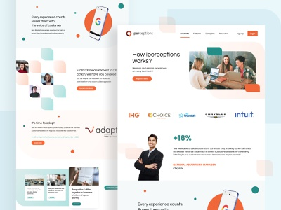 iPerceptions - Landing Page Redesign redesign minimalist ui clean ui modern ui website design cx customer experience uidesign landing page ui web app landing page design iperceptions webdesign oranges blue web design clean interface landing page ui design