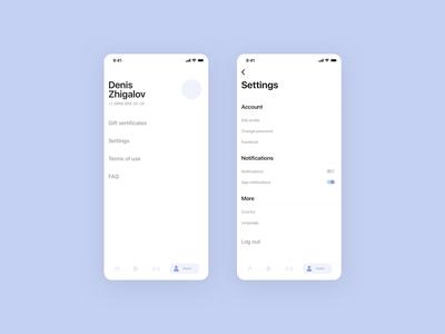 profile / settings
