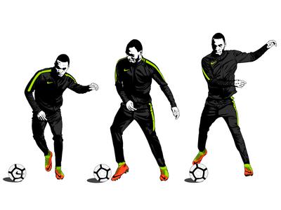 Nike // Hypervenom 3 nike vector illustration shoe artwork hypervenom campaign soccer football instagram
