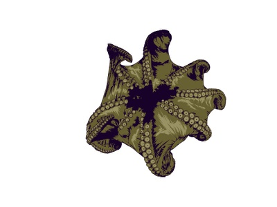 UNDER THE SEA pattern ocean sea editorial illustration editorial art creature creative nature tentacle octopus digital magazine editorial digital art illustrator artwork illustration vector