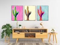 Untitled Saguaros Triptych