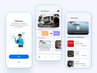 Education app concept flat minimal app ux illustration design edtech concept user interface app design icon ui web ios guide education app app design ui design