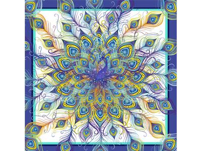 Mandala con plumas