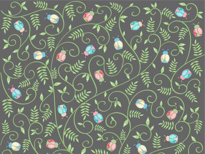 Pattern Vaquitas entre ramas
