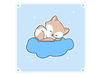 Gatito en su nube