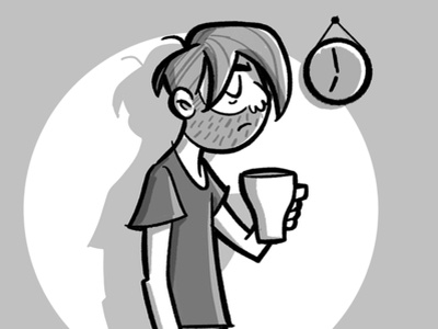 Wake up! monday shadow sketch blackandwhite tired coffee wakeup