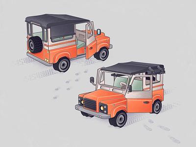 Leftover car cardesign landrover car design adobe illustrator illustration flat illustration