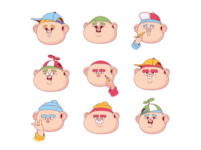 The illustrators' gang funny character boy illustration cartoon character 2d character adobe illustrator illustration character design