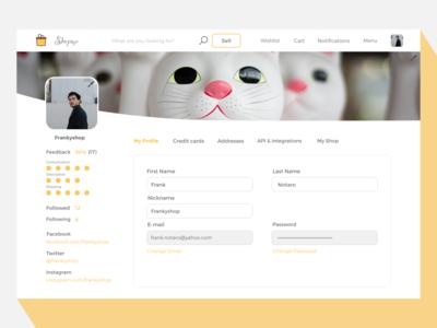 006 - Profile page classified platform