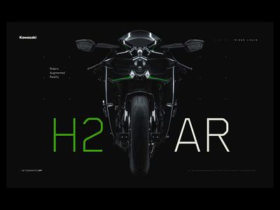 Kawasaki H2 Concept / Web product motorbike kawasaki layout web website ui 3d c4d