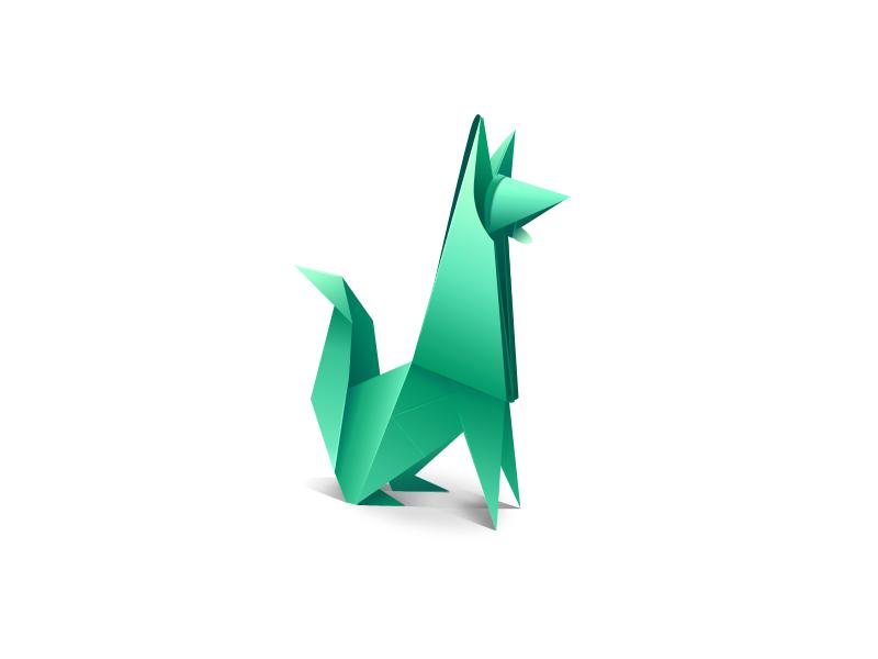 Random Illustration Origami Dog By Gado Gonzalez Dribbble