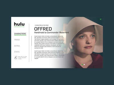 The handmaid's tale Interactive Television Concept weed uidesign ux uiux weeklyui hulu the handmaids tale data vod ivod television tv interactive tv dribbble dribbbleweeklywarmup weekly weekly challenge weekly warm-up weeklywarmup