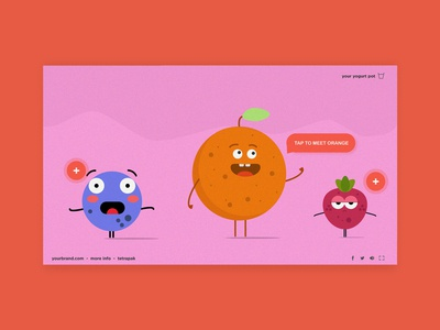 Animated Children's Interactive Video Concept animation children playful colourful concept mockup uxdesign ui uxui ux video interactive characters interaction desgin wirewax overlays hotspots interactive video character illustration