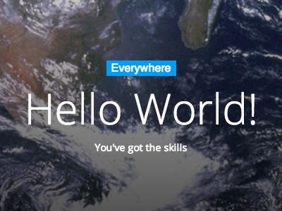 Hello world! html ui website design app iphone responsive mobile clean white typography web design css css3