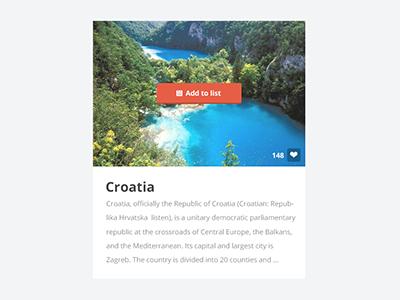 Crotia Visit Panel web flat ui design website buttons clean white