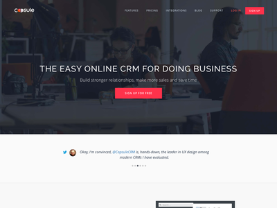capsulecrm.com new marketing site css html capsule crm product homepage redesign marketing