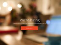 Jobs page header