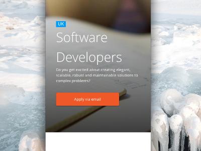 Responsive Jobs Page css ui responsive mobile web photo clean button jobs app crm web design iphone html