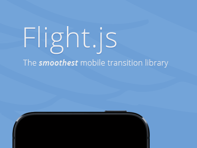 Flight.js js mobile iphone android css html library web website homepage ui app web design