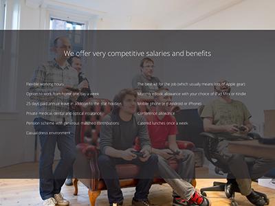 Jobs page launch web jobs web design website hiring photo ui app capsule