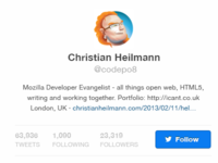 Twitter Hover Profile