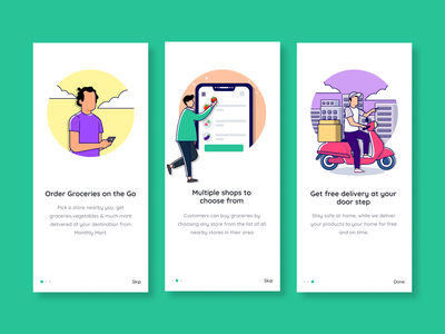 Monthly Mart android landing visualdesign mobileapplication app shopping mobile design ui art illustration