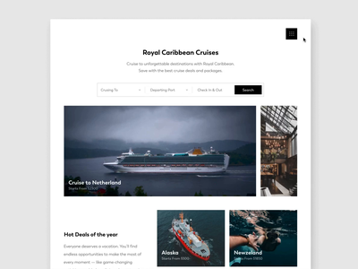 Cruise booking concept booking site minimal product ticket booking web booking sea ocean ship ticket ux ui journey travel interface website cruise ship cruise