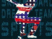 american skateboarding vector art