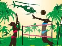 summer sports vector art
