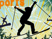 winter sports vector art