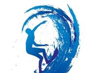 pacific ocean surfer vector art