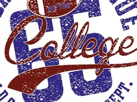 college graphic design vector art