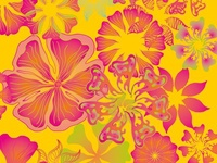 floral handdraw fabric pattern design vector art