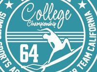 College surfer vector art