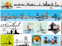 istanbul graphic design vector art stock images