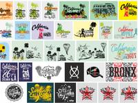 california college sports graphic design vector art