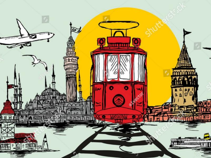 Istanbul graphic design vector art artwork fashion turkey istanbul graphic art vector
