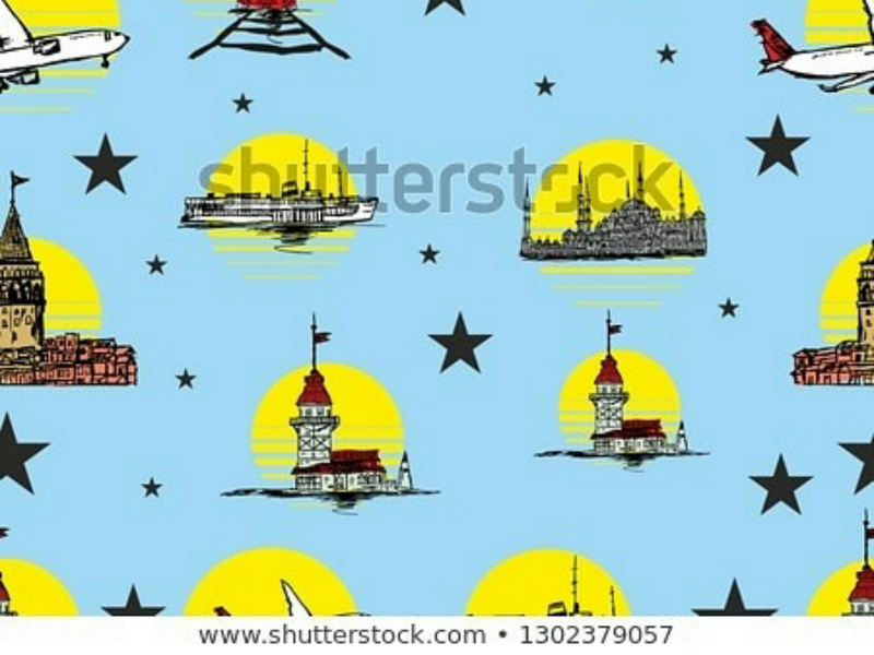 İstanbul graphic design vector art graphicdesigner embroidery printing allover fashion turkey design pattern vector i̇stanbul