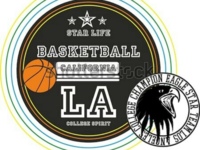 Basketball college vector art