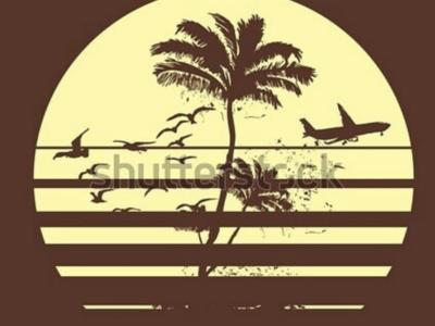 california dream summer holiday theme graphic design vector art