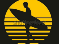 California surfer graphic design vector art